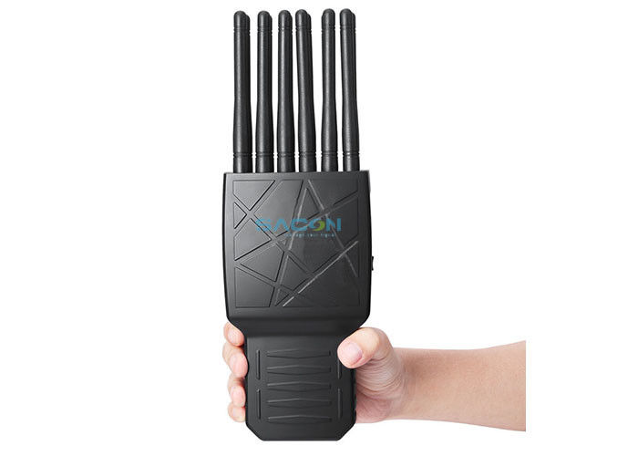 12 Bands Handheld Mobile Phone Signal Jammer Support WIFI Built In Battery